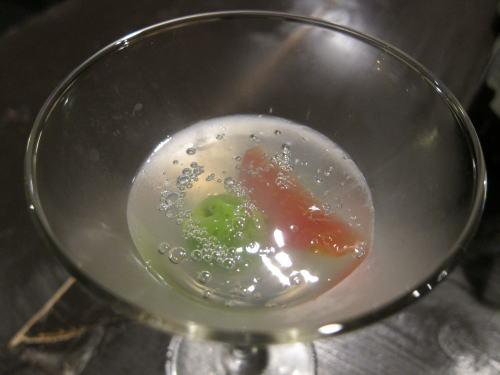 トマト水のジュレ