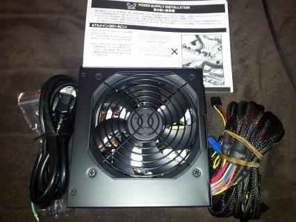 サイズ/Scythe SoLID PoWER ブロンズ 550W (SP-BZ-550A)付属品
