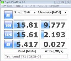 Transcend(トランセンド) TS16GSDHC6