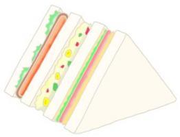 三明治 快餐食品 烹调面包 面包 混合三明治