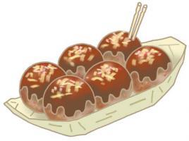 章鱼烧 日本菜 便饭 日本食 章鱼小丸子