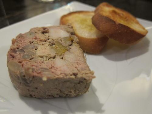 鶏レバーとフォワグラのパテ