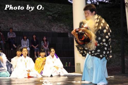 第16回かがり火コンサート 松前神楽 十二の手獅子舞五方