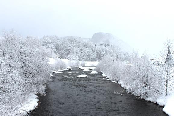 北見市留辺蘂町の無加川