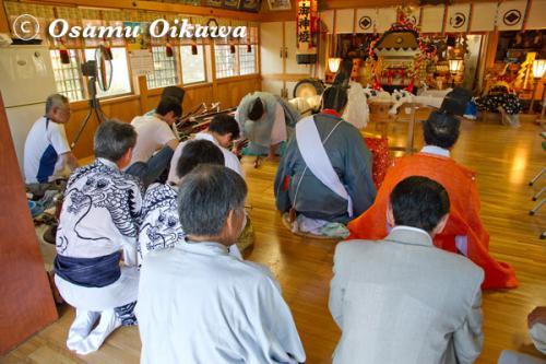 福島大神宮渡御祭 月崎神社にて 2012