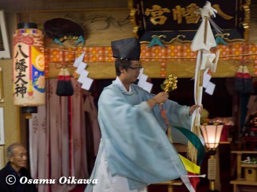 上ノ国町 石崎八幡神社 神楽舞 御幣舞