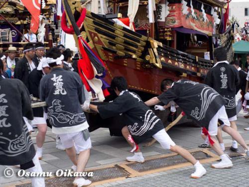 姥神大神宮渡御祭 2012 下町巡幸 松寳丸の舵