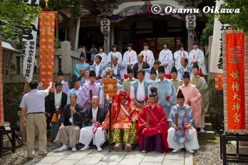 姥神大神宮渡御祭 2012 上町巡幸 記念写真