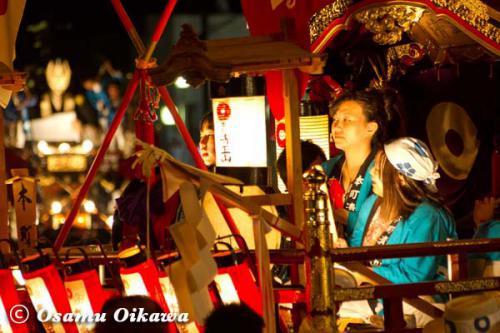 姥神大神宮渡御祭 2012 上町巡幸 山車の巡幸