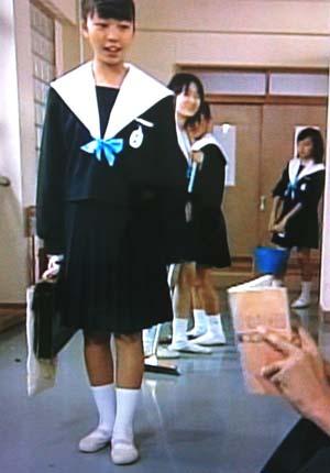 ふゆみ テスト前夜 中学生日記 愛セラ 名古屋襟セーラー服 白襟カバー 女子中学生