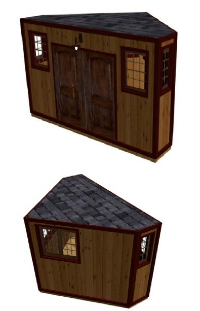 Corner Shed Plans How To Build Diy By