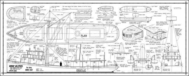 wood ship model plans