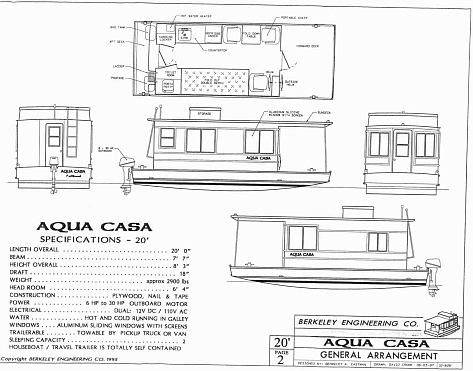 House Boat Plan