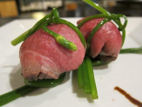 和牛ローストビーフの手毬寿司