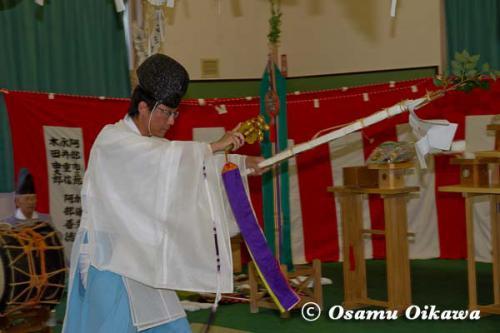 白符大神宮 宵宮祭 2012 松前神楽 祝詞舞