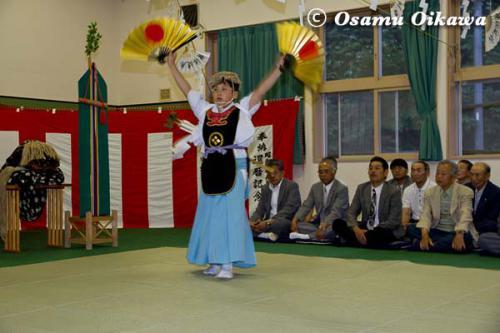 白符大神宮 宵宮祭 2012 松前神楽 荒馬舞