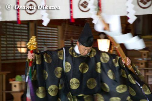 松前町 松前神社 松前神楽 榊舞 2012