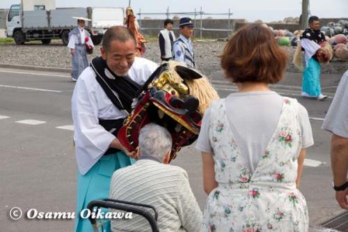 鹿部稲荷神社渡御祭 2012 行列 獅子