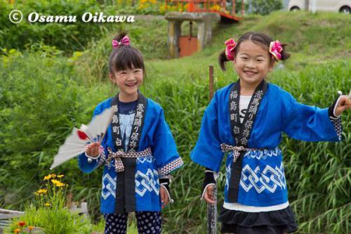 白符大神宮渡御祭 2012 荒馬踊り 子供
