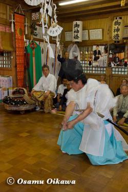白符大神宮本祭 2012 松前神楽 注連祓舞