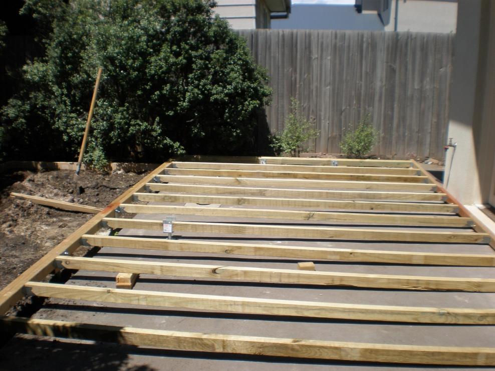 Gentil Build Wood Deck Over Concrete Patio
