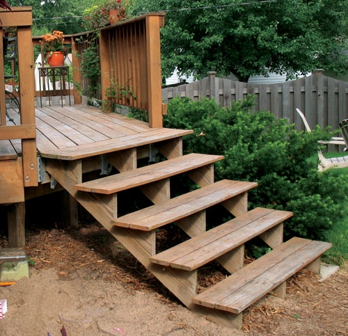 Build Wood Steps How To Build A Amazing Diy Woodworking Projects | Wood Stairs Over Concrete | Stair Stringers | Composite Decking | Cement | Front Porch | Stoop