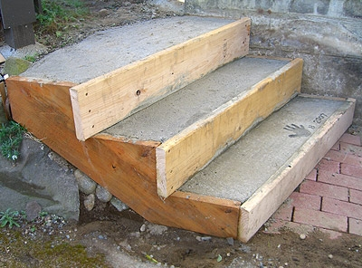 Build Wood Steps How To Build A Amazing Diy Woodworking Projects   Wood Steps Over Concrete Steps   Cement   Concrete Patio   Brick   Stair Stringers   Curb Appeal