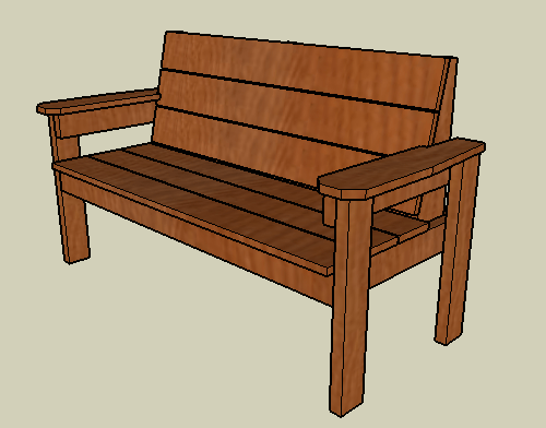 Permalink to plans for wooden garden bench