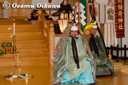 本別稲荷神社 松前神楽 二羽散米舞