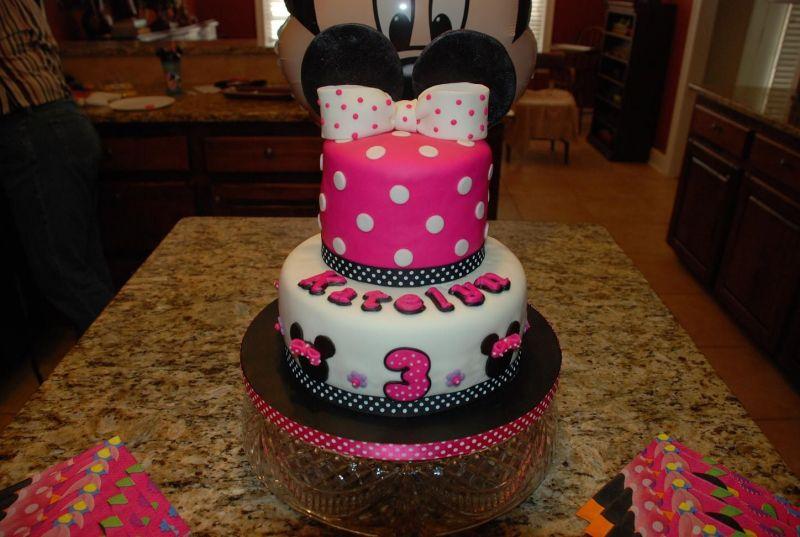 Minnie Mouse Cake Decoration