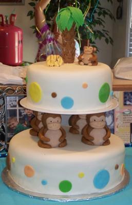Monkey Cake Decorations