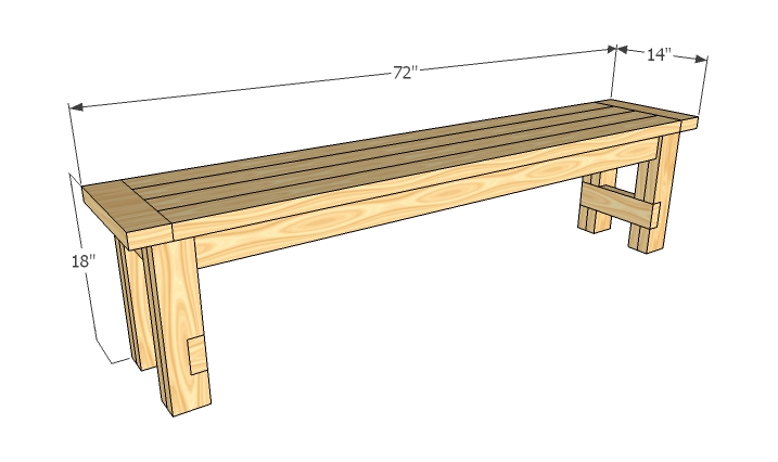 plans wooden bench