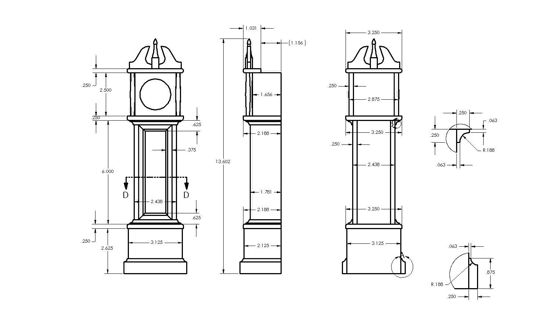 23 Popular Grandfather Clock Woodworking Plans