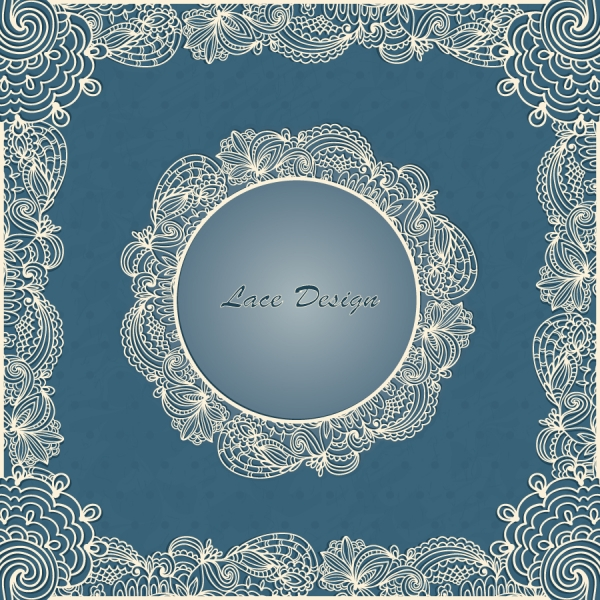 美しいレース織り柄のフレーム european lace pattern background