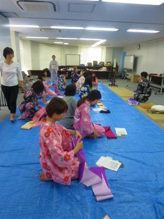 kimono binding lesson