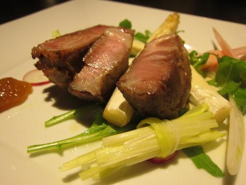三元豚のハムと前菜
