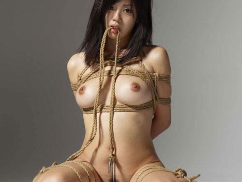 縛られたおっぱいが美しい!拘束され、緊縛された女の子のエロ画像
