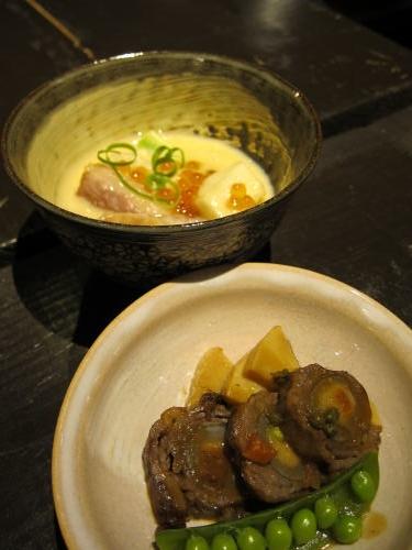 雑煮と牛肉と牛蒡の煮物