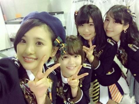 160124HKT48-AKB48兒玉遥755(はるっぴ)-1 with HKT48秋吉優花 穴井千尋 松岡菜摘
