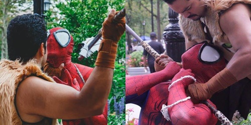 スパイダーマン ヒーロー やられ 敗北 ピンチ 拘束