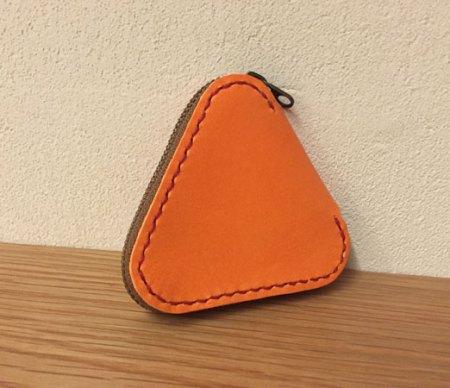 三角ファスナーコインケース