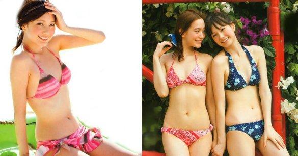 セブンティーンモデル時代、ピンクのビキニを着た本田翼