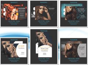 Nouvelles cartes de visite pour salon de coiffure design