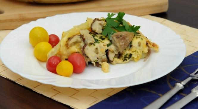 Zapiekanka ziemniaczana z grzybami – prawdziwki