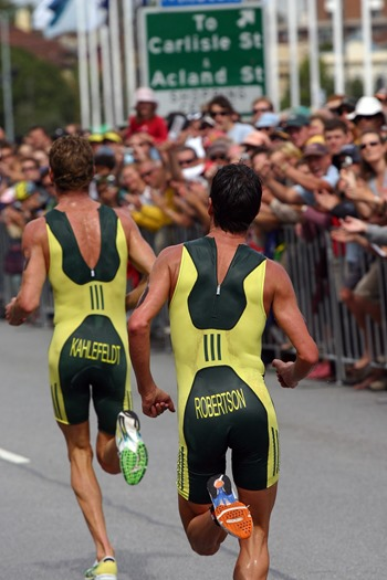 Commonwealth Games triathlon held on Beach Road, St Kilda.