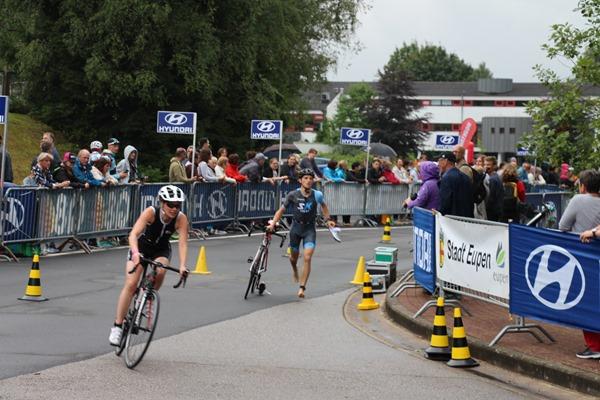 résultats au triathlon eupen fin vélo