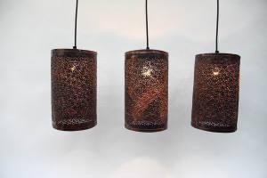 gelochte Kupfer Leuchten (2)