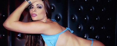 linsey dawn mckenzie getting naked with her new boobs at babestation