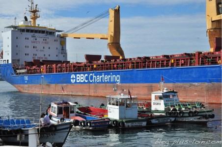 Le port de Valparaiso, au Chili.