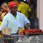 Vendeur de saucisses, à Carthagène.